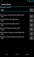 Screenshot of Thailand Stock Market