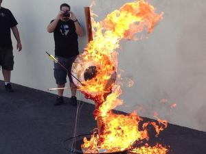 NeverSoft goes out in style burning their iconic logo for real