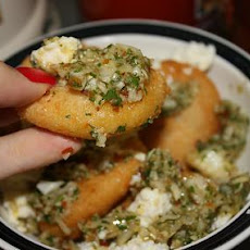 Arepitas With Chimichurri and Queso Fresco