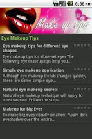 Screenshot of Make up Tips