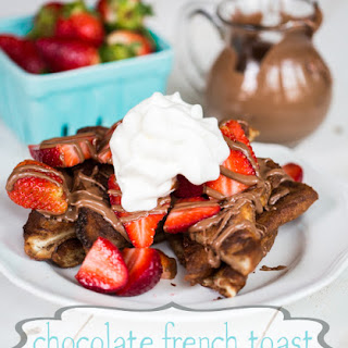 Baked Chocolate French Toast with Strawberries