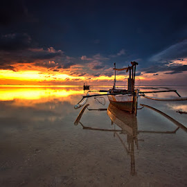 by Peter Paulize - Transportation Boats ( indonesia, sunset, transportation, seascape, landscape )