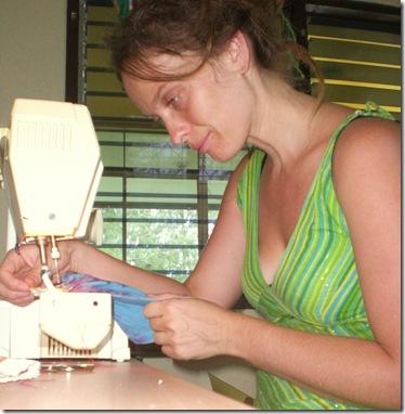 64 Barbie sewing