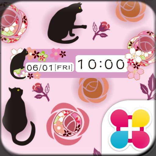 黒猫と薔薇 for[+]HOMEきせかえテーマ 個人化 App LOGO-APP試玩