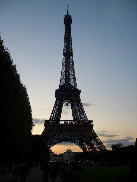 La Tour, soleil couchant...