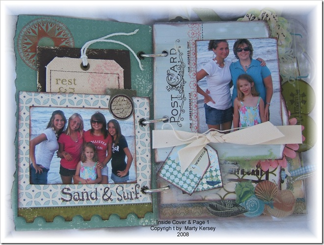 A-Inside Cover & Page 1 Beach Acrylic Album