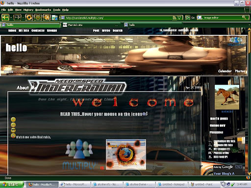 multiply themes, customized layouts, need for speed theme