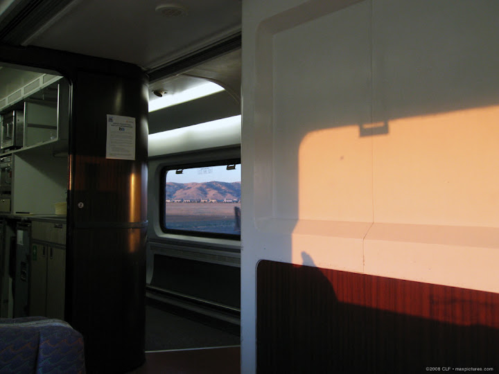 Sunrise in the loung car