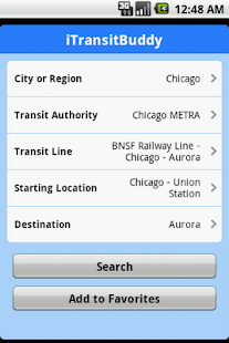 iTransitBuddy METRA Lite - screenshot