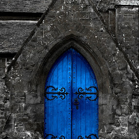 Blue door  by Ian Flear - Buildings & Architecture Other Exteriors