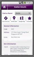 Screenshot of Singapore MRT Info