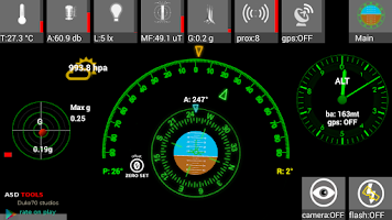 Screenshot of ASD Tools - Sensors