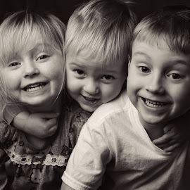 Three Amigos by Lionel Manyoky - Babies & Children Child Portraits ( sister, three, fun, brother, smile, portrait,  )