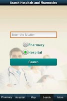 Screenshot of Hospital and pharmacy finder
