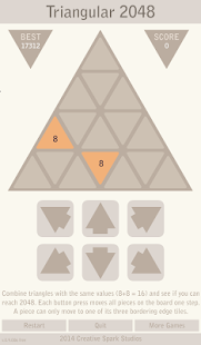 Triangular 2048 - Free - screenshot