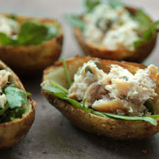 Smoked Trout Potato Skins Recipe
