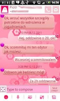 Screenshot of GO SMS Pink Floral Theme