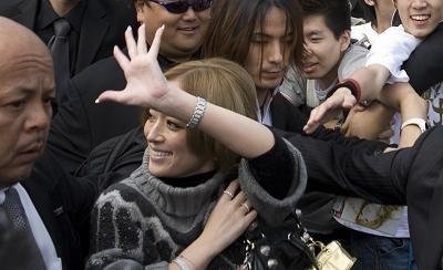 Ayumi Hamasaki at Hongqiao Airport