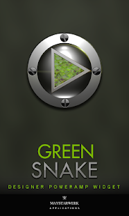 Poweramp Widget Green Snake - screenshot
