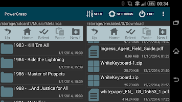 Screenshot of PowerGrasp file manager