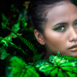Green Leafs by SUGIANTO SUPARMAN - People Portraits of Women