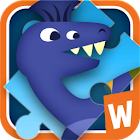 Jigsaw Puzzle with Dinosaurs icon