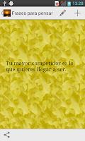 Screenshot of Frases para pensar