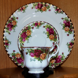 Old Country Roses China by Jean Miller - Artistic Objects Cups, Plates & Utensils