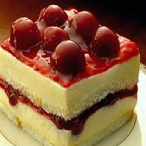 Chocolate Cream Angel Slices With Cherry-Berry Sauce Recipes ...