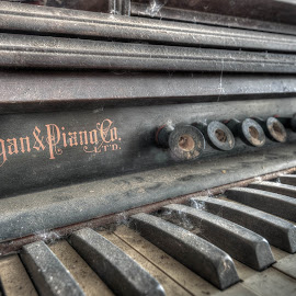 The final chapter... by Tim Verbeeck - Artistic Objects Still Life ( music, urbex, piano, details, hdr, classic, abandoned places, decay,  )