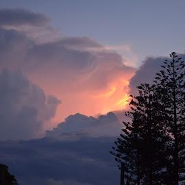 Sunset Sky by Di Mc - Novices Only Landscapes ( sky, blue, sunset, pink, storm, skies )