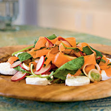 Raw Spring Vegetable Salad with Goat Cheese