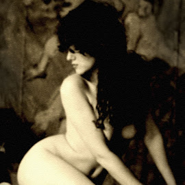 by Jim Oakes - Nudes & Boudoir Artistic Nude ( studio, nude, black and white, female )