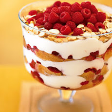 Raspberry, White Chocolate, and Almond Trifle