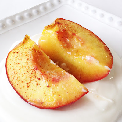 Roasted Honey & Cinnamon Peaches