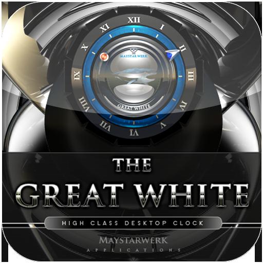 白色大時鐘部件 LOGO-APP點子