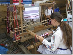 Demonstratei practica tesaturi traditionale Criste Ana Stefania