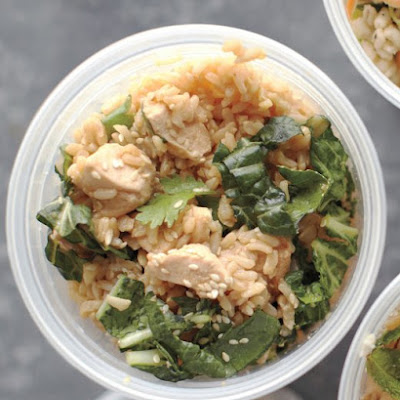 Brown Rice, Chicken, and Cilantro Salad