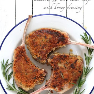 Mustard and Herb Lamb Chops with Honey Dressing