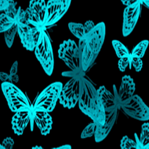 3D夜光蝴蝶 LOGO-APP點子