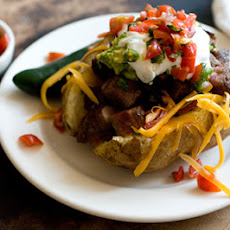 Carne Asada Stuffed Potatoes