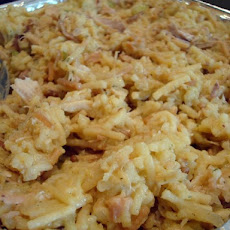 Hot Chicken Salad (a.k.a. Chicken & Rice Casserole)