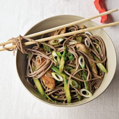 Pork, Asparagus, and Soba From 'The VB6 Cookbook'