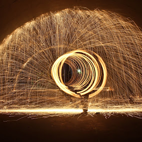 Steel Wool Fire by Brenda Hooper - Abstract Fire & Fireworks ( abstract, photograph, park, steel wool, fire,  )