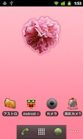 Screenshot of Heart Flower Clock Widget