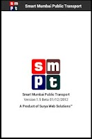 Screenshot of Smart Mumbai Public Transport