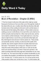 Screenshot of Daily Bible Words