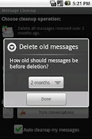 Screenshot of Message Cleanup