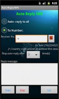 Screenshot of Auto Reply SMS