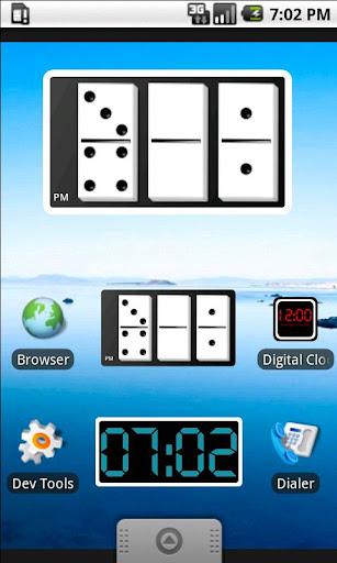 Domino Clock Widget